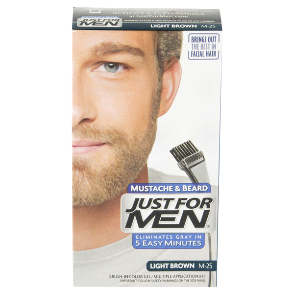 Just For Men Mustache & Beard Light Brown M-25 | Meijer.com