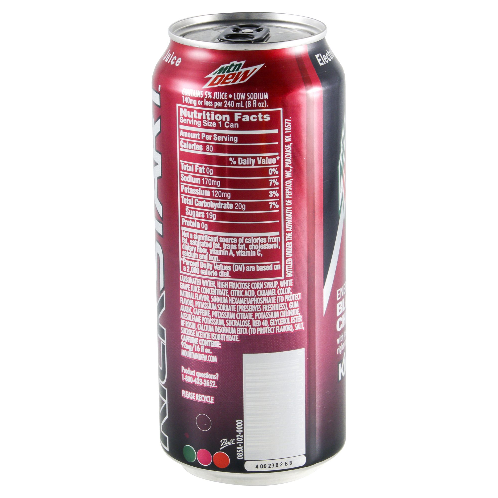 Dew. Juice. Caffeine. Mtn Dew Kickstart is three awesome things combined - just like Puppymonkeybaby Mtn Dew Kickstart Recharge Blood Orange and Blueberry Pomegranate combine the great taste of DEW with real fruit juice and antioxidants vitamins C and E to get you charged for your next big moment.