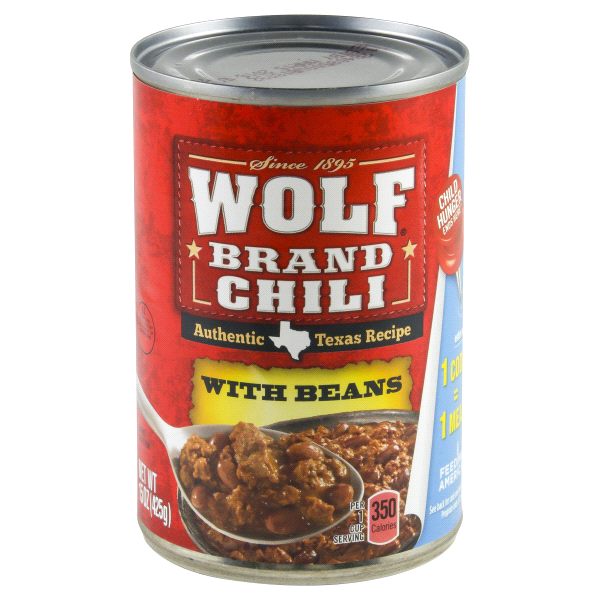 Wolf Brand Chili With Beans Nutrition
