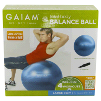 Meijer.com deals on Gaiam Total Body Balance Ball Kit with Pump & DVD 75cm
