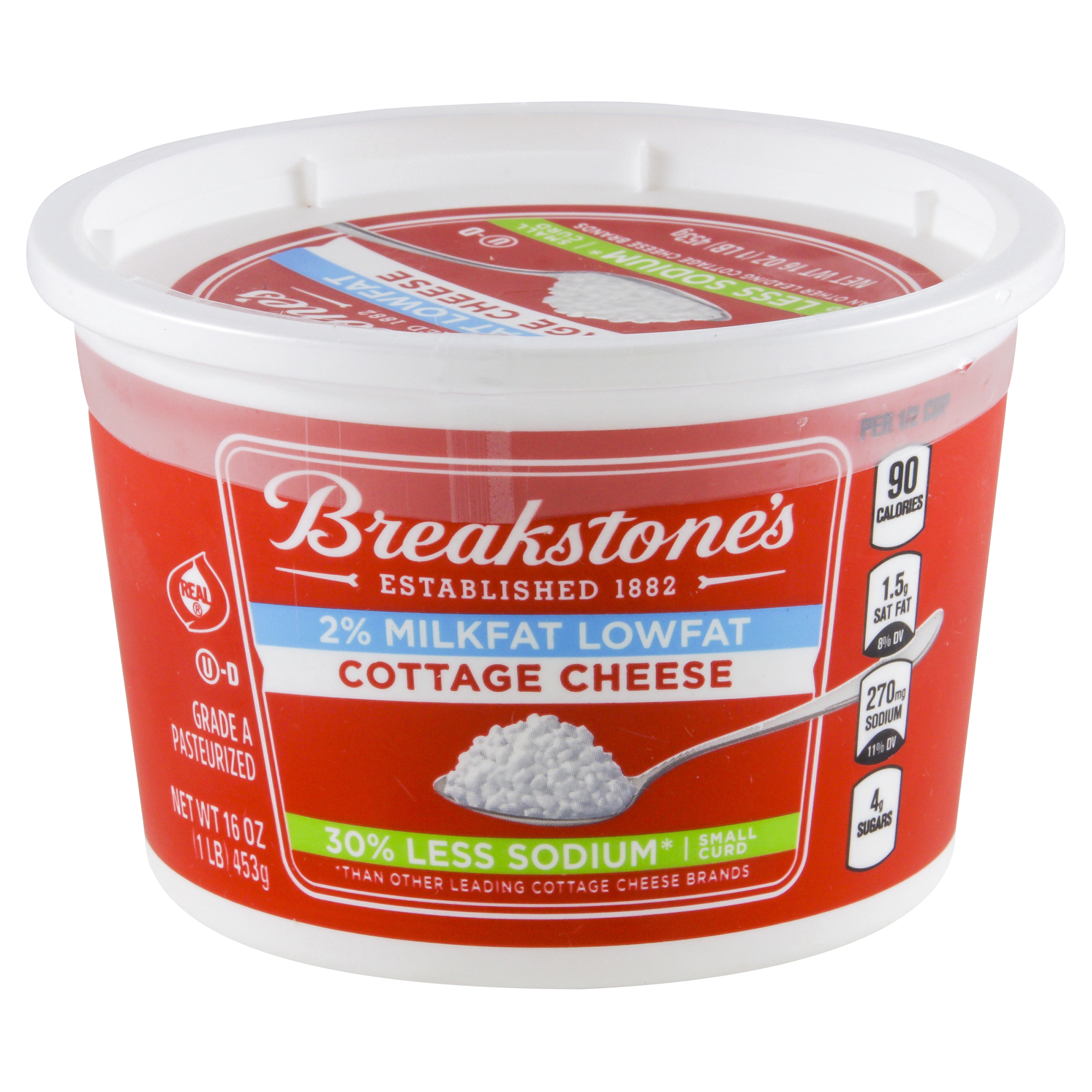 breakstones small curd low sodium cottage cheese 16 oz tub | meijer