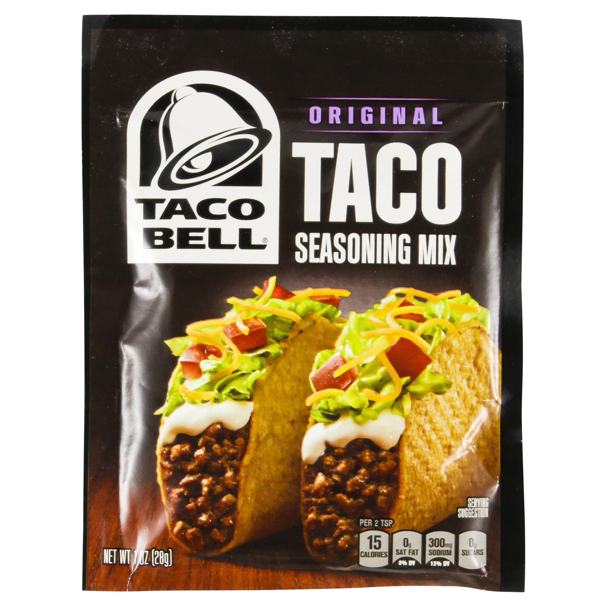 Taco Bell Original Taco Seasoning Mix 1 Oz Envelope Meijer Com