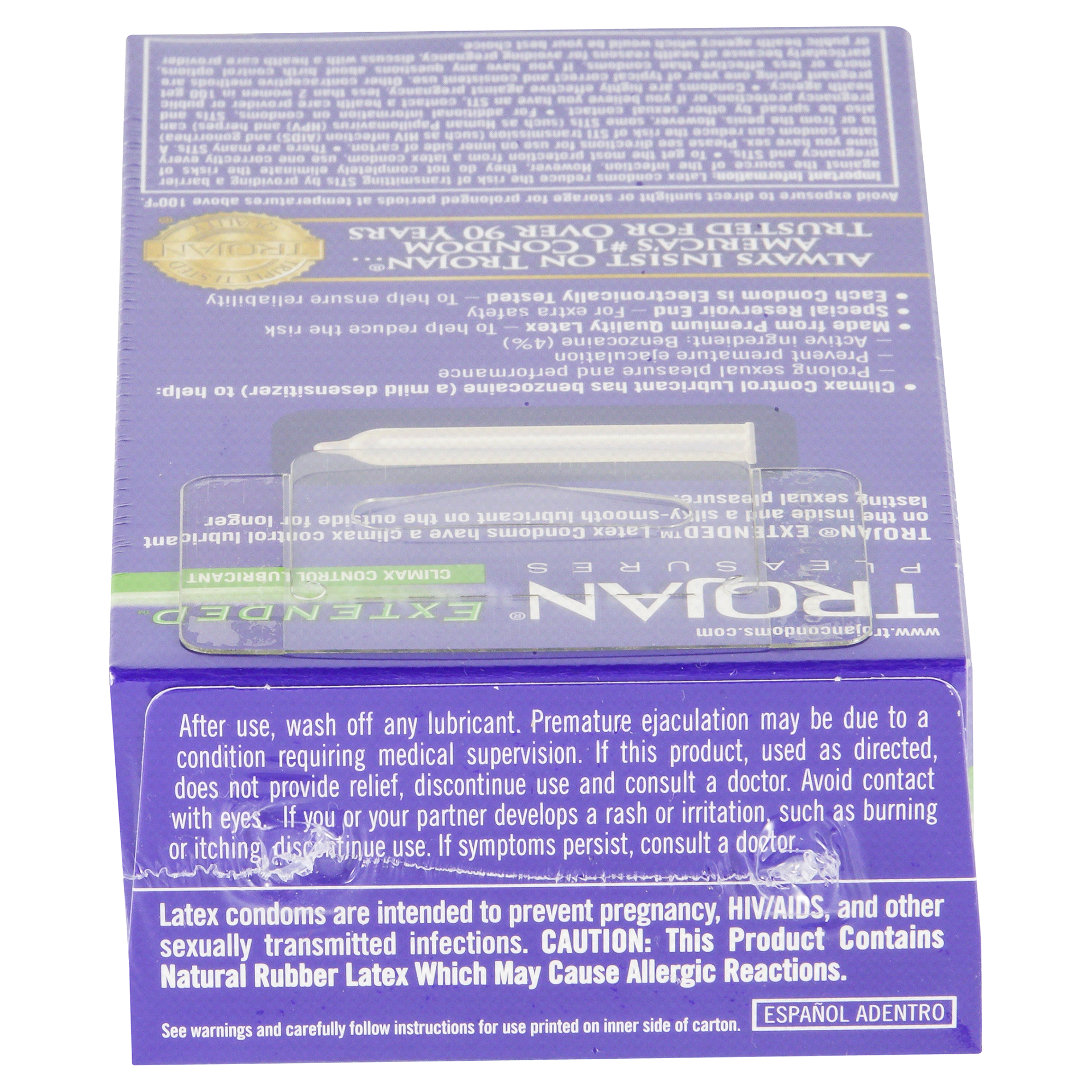 Trojan Extended Condoms With Climax Control Lubricant 12 Ct Condom