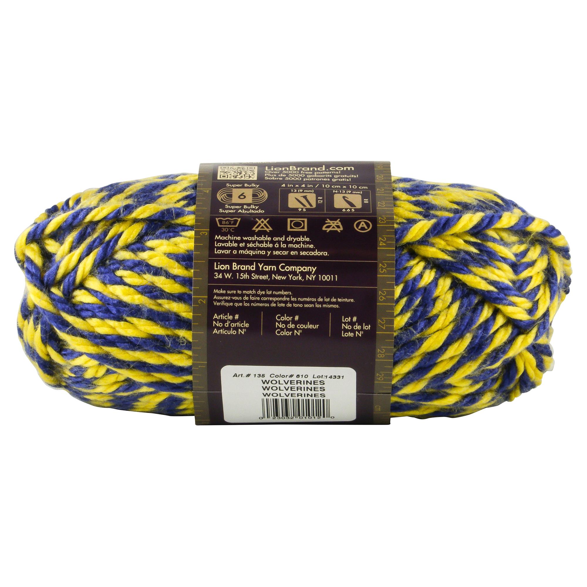 Lion Brand Yarn Hometown Usa Wolverines Meijer