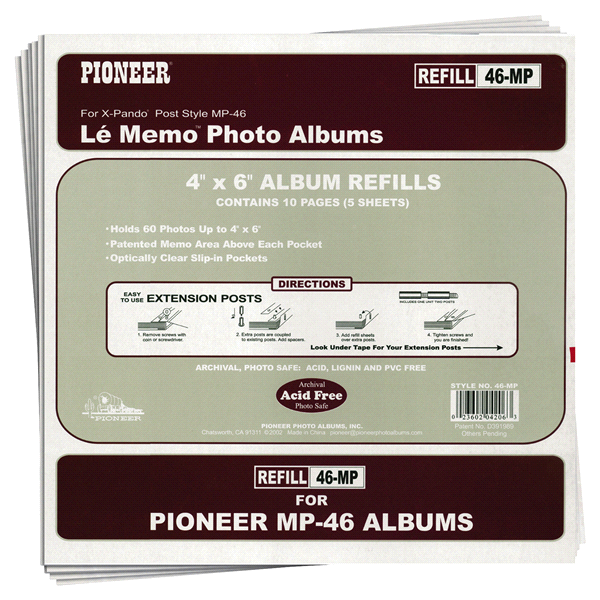 Pioneer Photo Albums Refill Pages For Mp46 Photo Album Meijercom