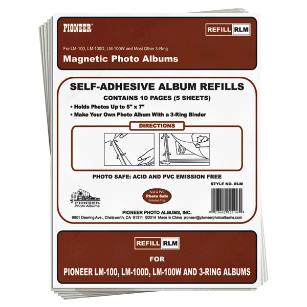 Pioneer Photo Albums Refill Page For Lm100 3 Ring 100 Page Magnetic