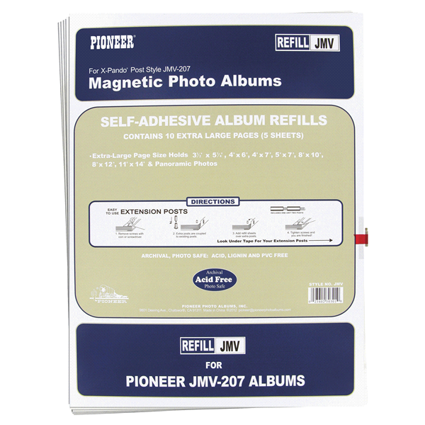 Pioneer Photo Albums Magnetic Refill Page For Jmv207 Magnetic Album
