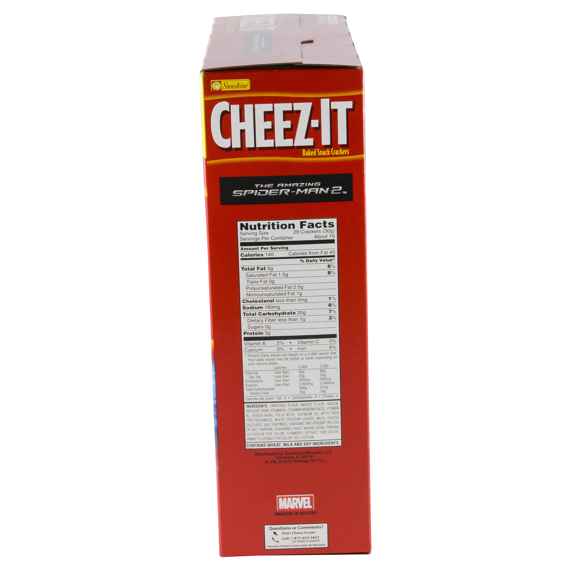 sunshine® cheez-it® spider-man original baked snack crackers 21 oz