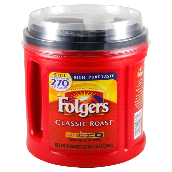 Folgers Classic Medium Roast Coffee 33 9 Oz Meijer Com