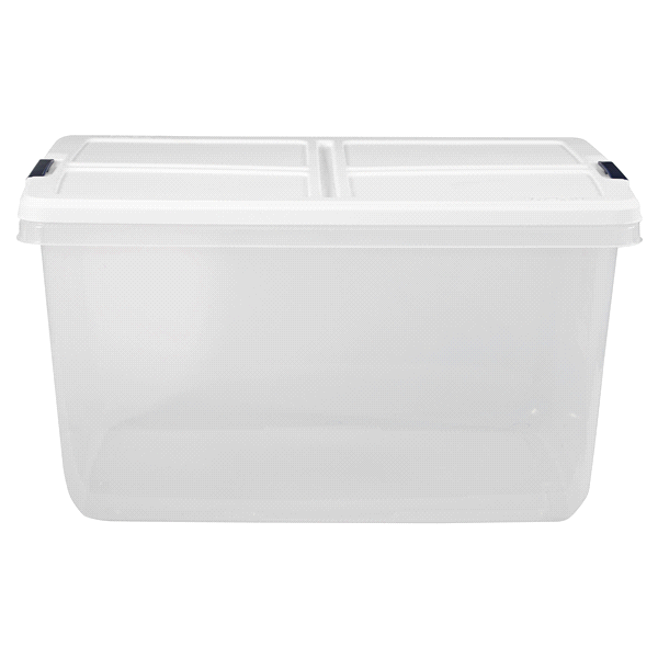 Hefty Storage Tote 66 Quart Clear