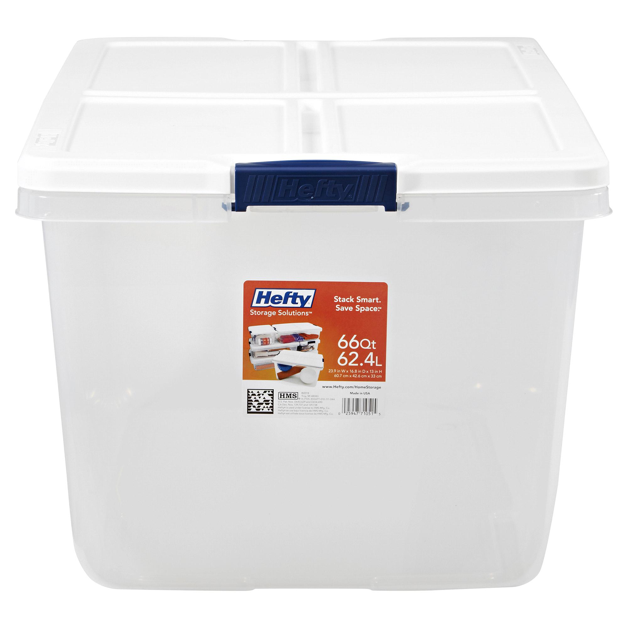 Hefty Storage Tote 66 Quart Clear | Meijer.com