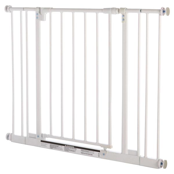 Merveilleux Easy Close Adjustable Pet Gate White