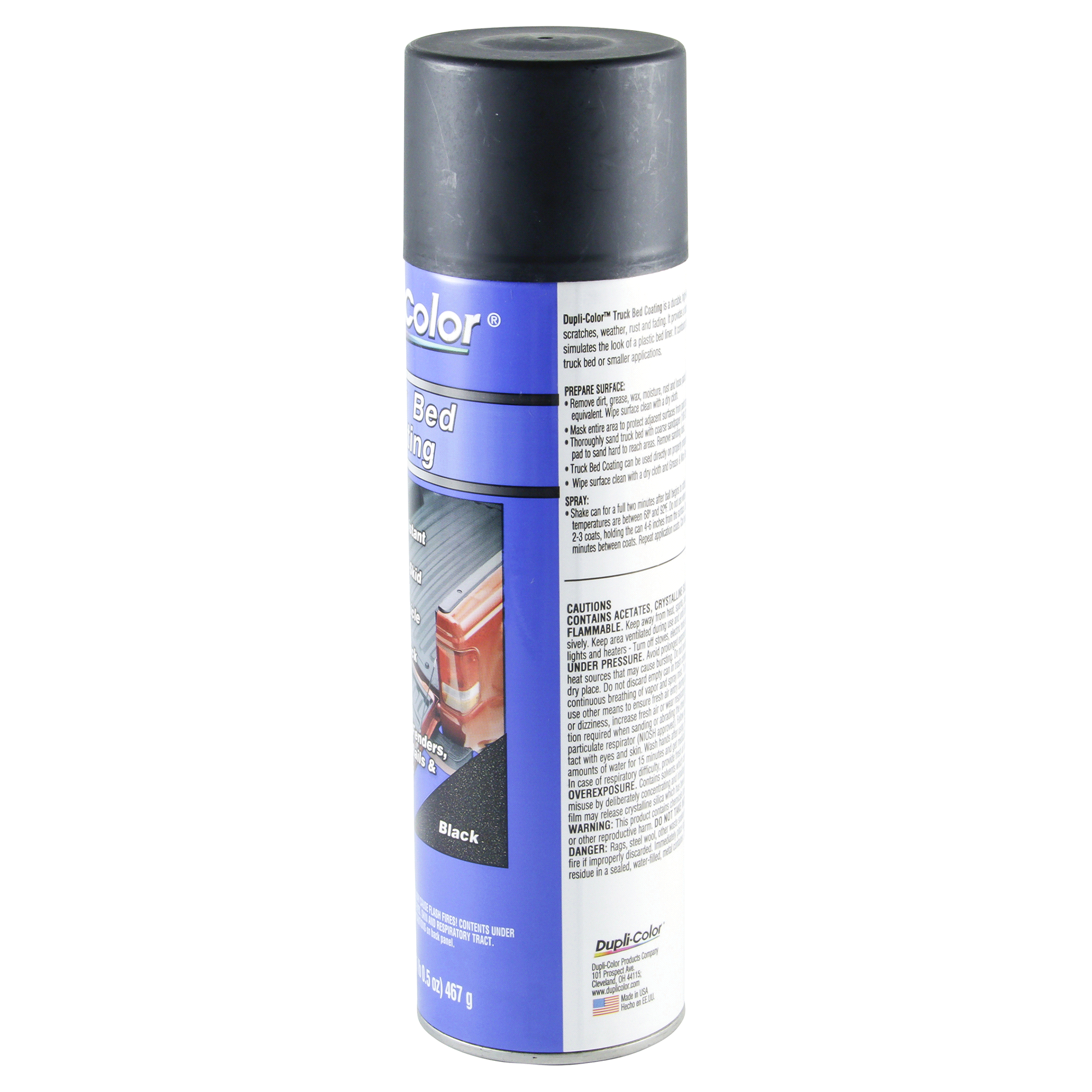 Dupli Color Tr250 Black Truck Bed Coating Aerosol 16 5 Oz Meijer Com