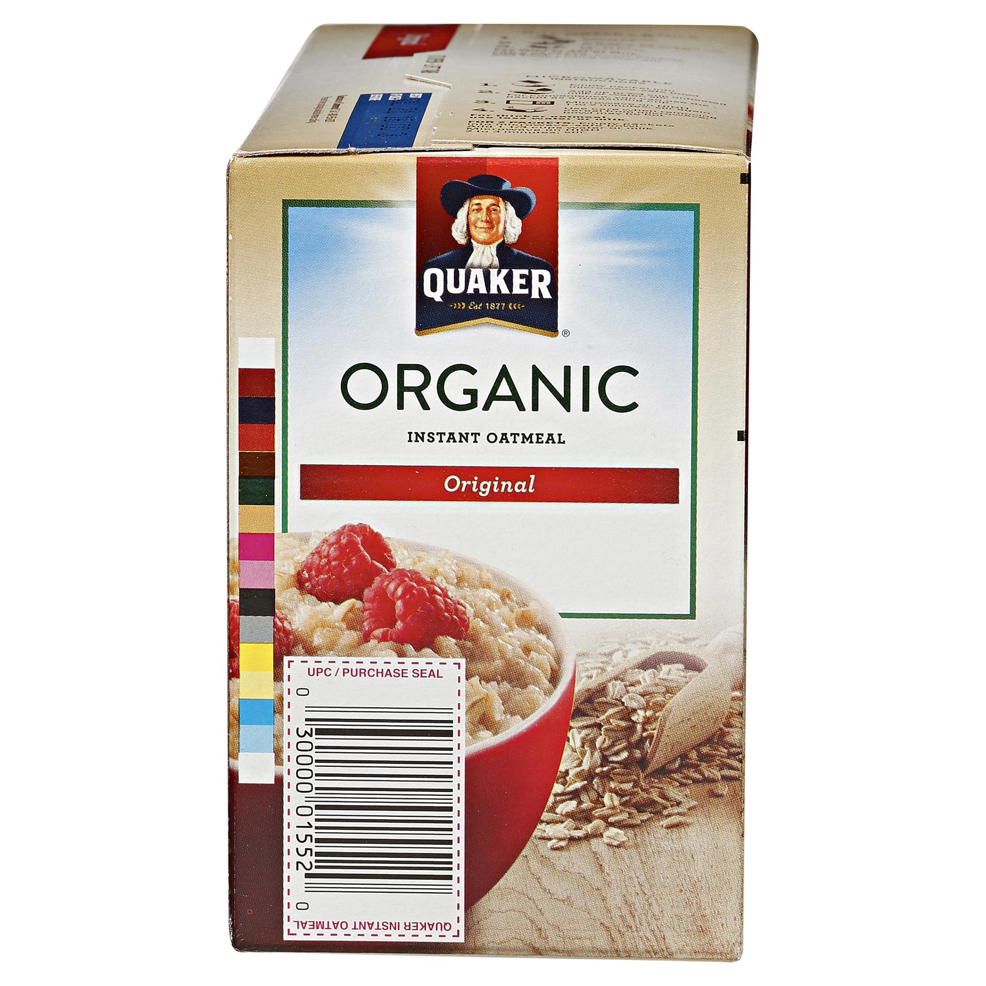 Quaker Select Starts Organic Instant Oatmeal Original 79 Oz Jar 1 Carton 12 Pcs P