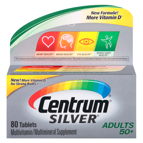 Centrum Silver Adult 80 Count Complete Multivitamin Multimineral