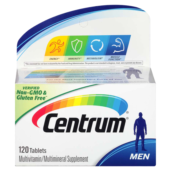 Centrum Men 120 Count Complete Multivitamin Multimineral