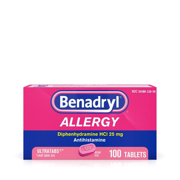 2b27779f632fe Benadryl Allergy Ultratabs Tablets 100 Count