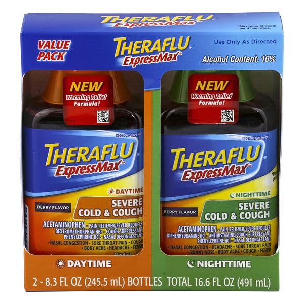 Theraflu Expressmax Daytime Nighttime Severe Cold Cough Berry