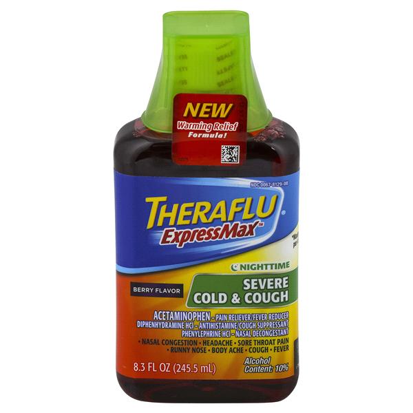 Theraflu Expressmax Nightime Severe Cold Cough Berry Flavor 83