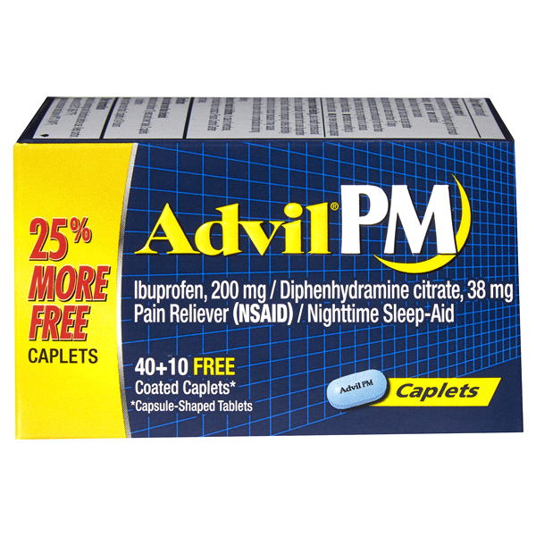 Advil Pm Pain Reliever Nighttime Sleep Aid Ibuprofen And