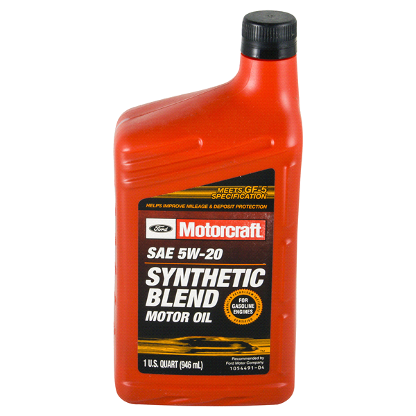 for Sae 5w 20 synthetic blend motor oil
