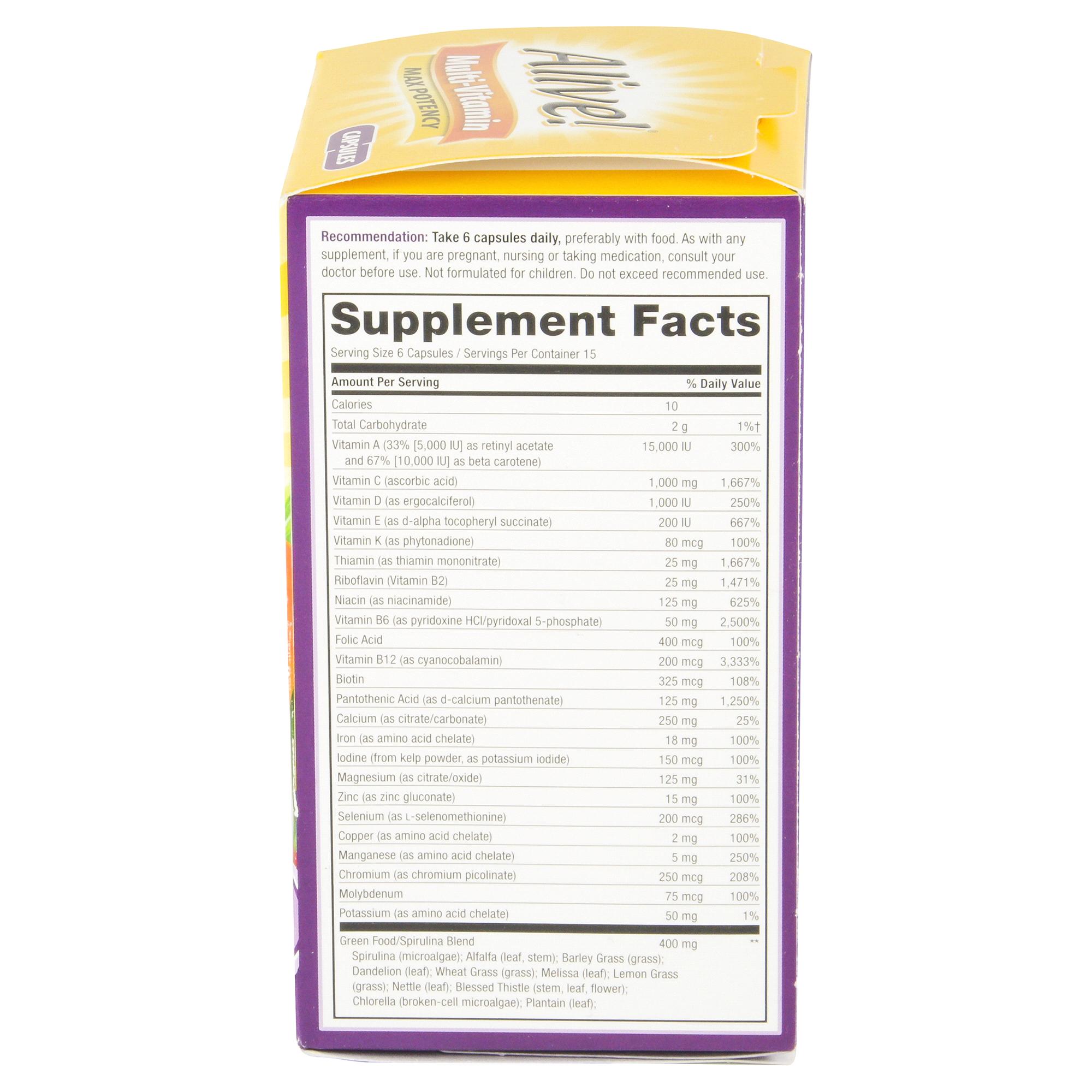 Natures Way Multi Vitamin Max Potency 90 Ct Multivitamin With Spirulina 200 Tablets