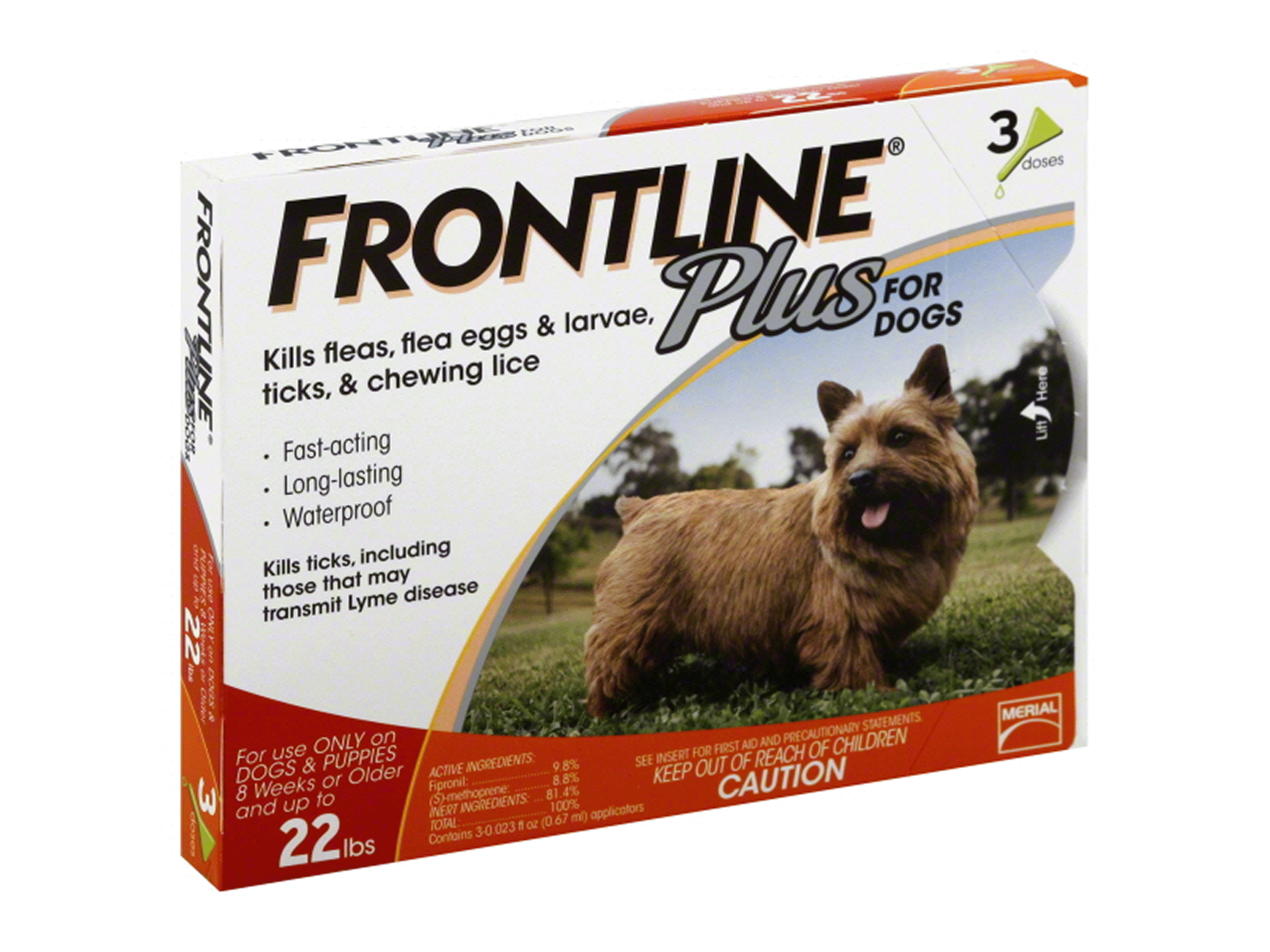 Frontline Plus Flea & Tick for Dogs 5-22 lbs 3 pk | Meijer.com