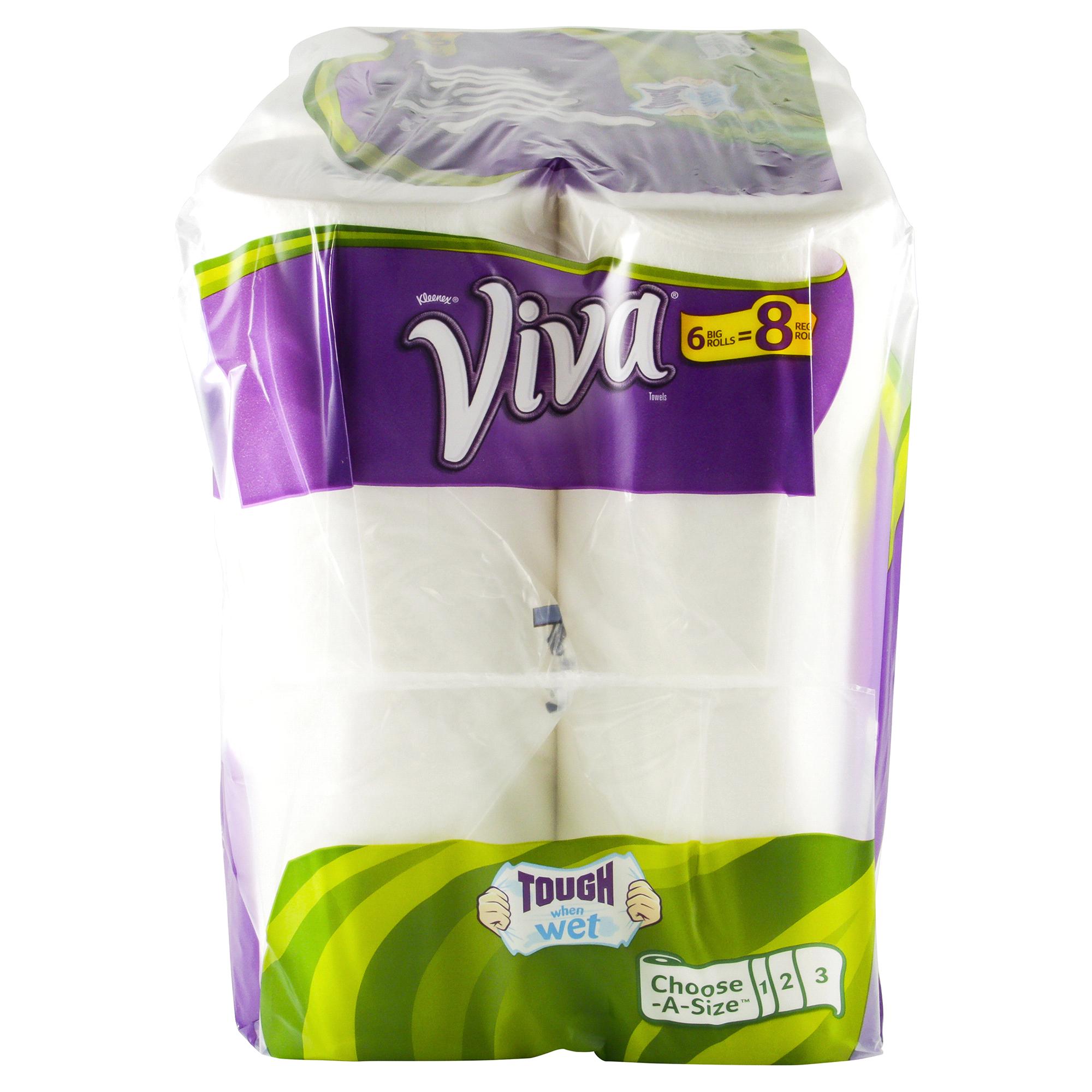 Viva Paper Towels Choose-a-Size White Big Roll 6 rolls | Meijer.com