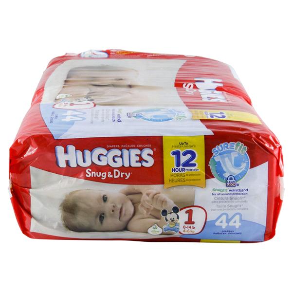 HUGGIES® Snug & Dry Diapers Jumbo Pack Size 1 - 44 ct | Meijer.com