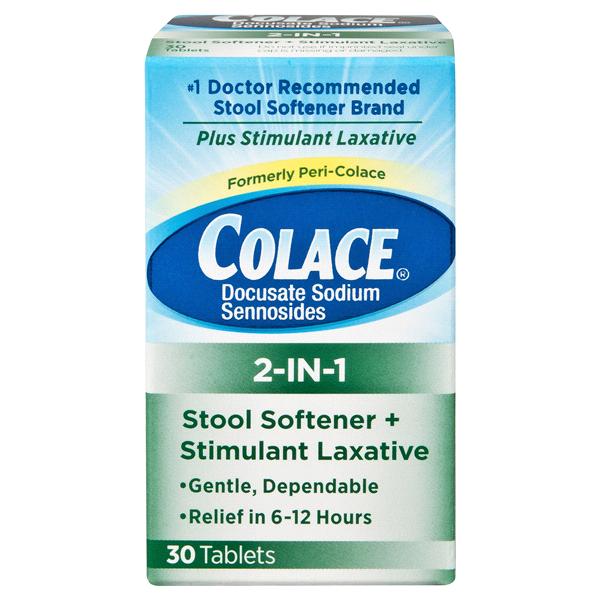 colace 2 in 1 stool softener laxative 30ct meijer com rh meijer com