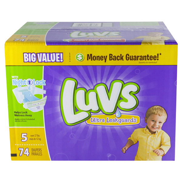 Luvs with Ultra Leakguards Size 5 - 74 ct | Meijer.com
