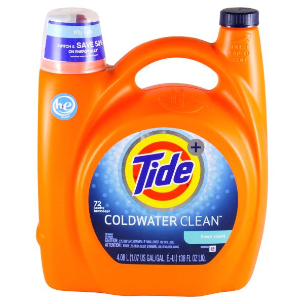 Tide Coldwater Clean Fresh Scent High Efficiency Liquid Laundry Detergent 72 Loads 138 Oz