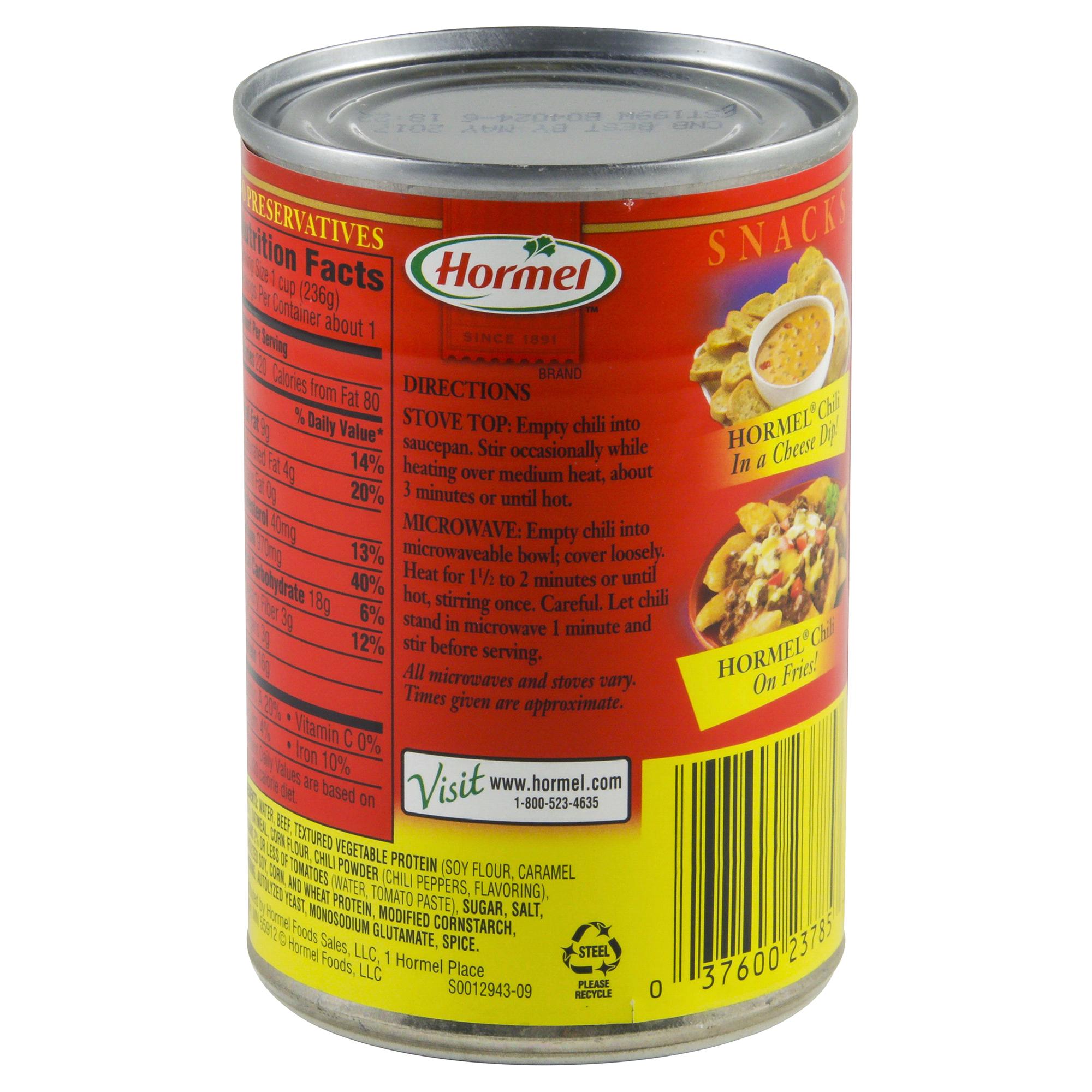 Hormel Chili No Beans 10.5 oz | Meijer.com