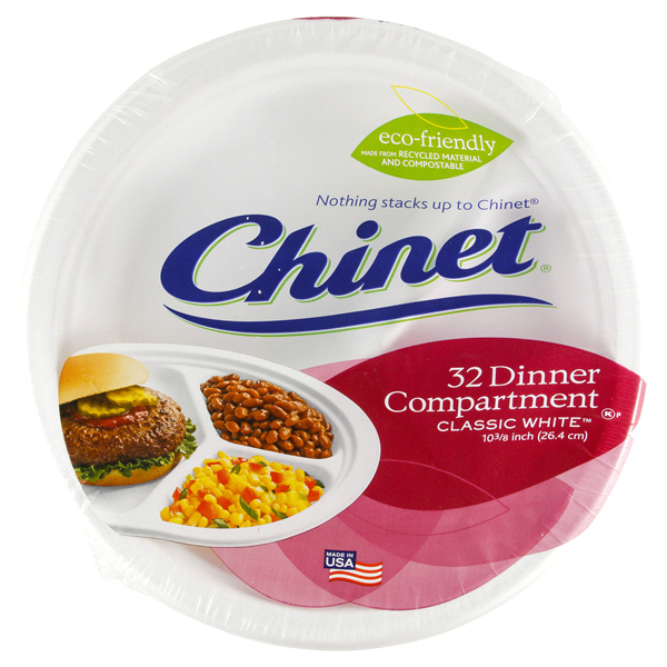 Chinet Classic White 10-3/8 Compartment Plate Value Pack 32pk  sc 1 st  Meijer & Chinet Classic White 10-3/8 Compartment Plate Value Pack 32pk ...