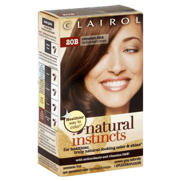 Clairol Natural Instincts Semi Permanent Hair Color 5w 20b Medium Warm Brown 1 Kit