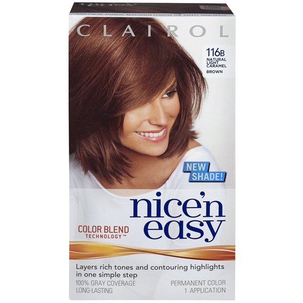 Clairol Nice N Easy Permanent Hair Color 6w 116b Natural Light