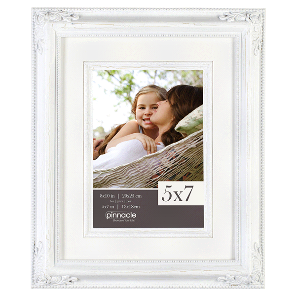 Pinnacle 8 x 10 Distressed White Fillet Frame | Meijer.com