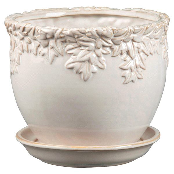 New England Ivy League Moonstone Pottery Planter 9 25 In Meijer Com