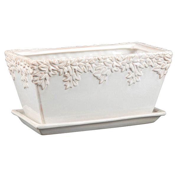 New England Pottery 12 Window Box Ivy League Planter Moonstone