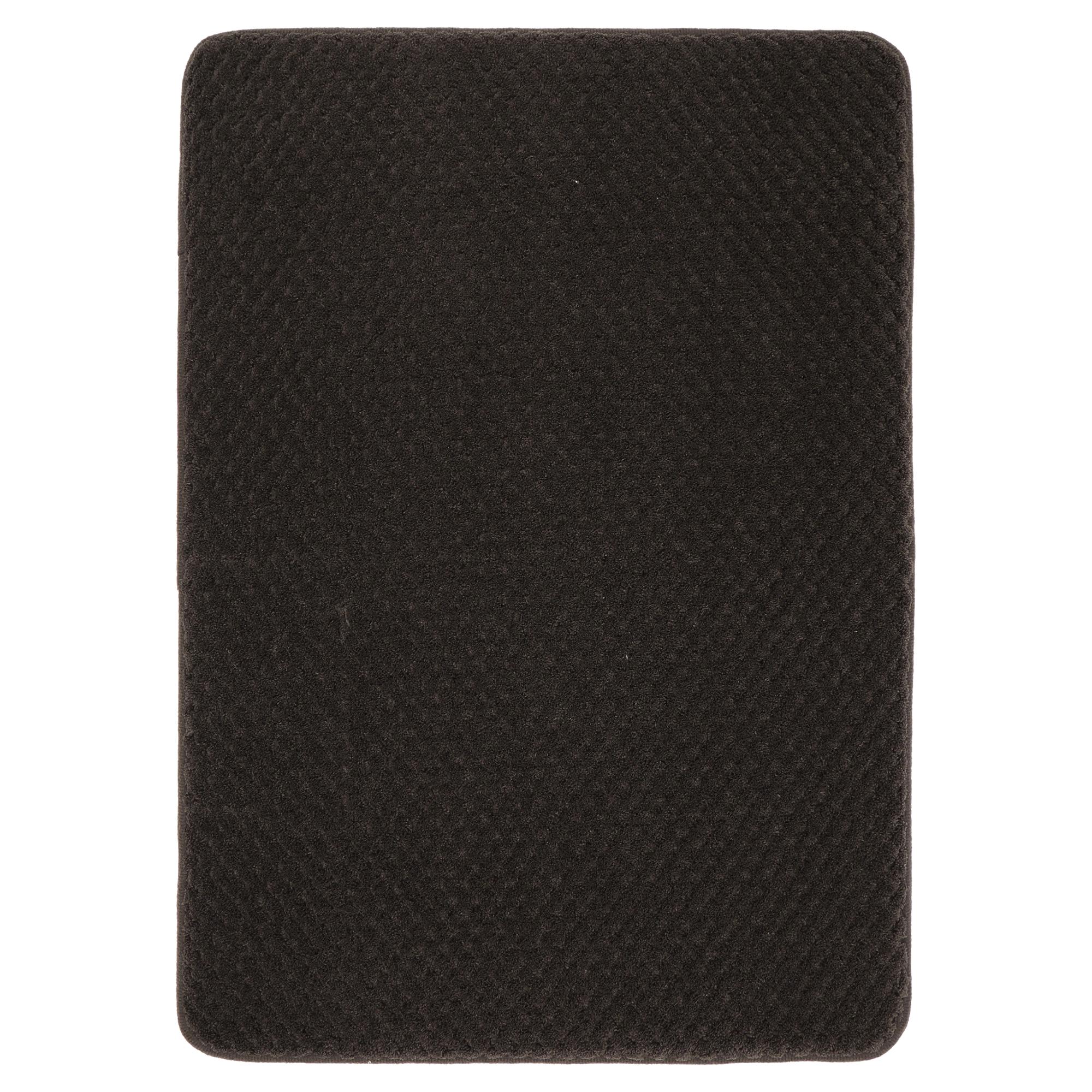 mohawk home bath rug memory foam chocolate 17 x 24 | meijer
