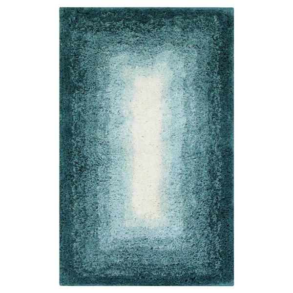 mohawk home ombre border 20 x 32 bath rug aqua | meijer