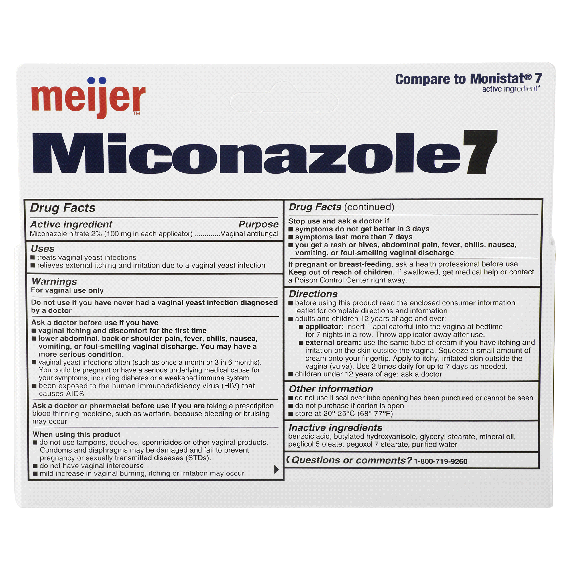 Meijer Miconazole 7 Combo Pack: Disposable Applicators   Meijer.com