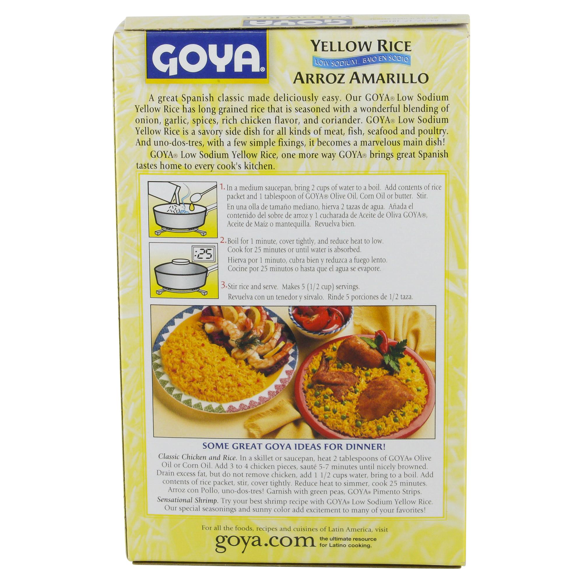 Goya Low Sodium Yellow Rice 8 Oz Meijer