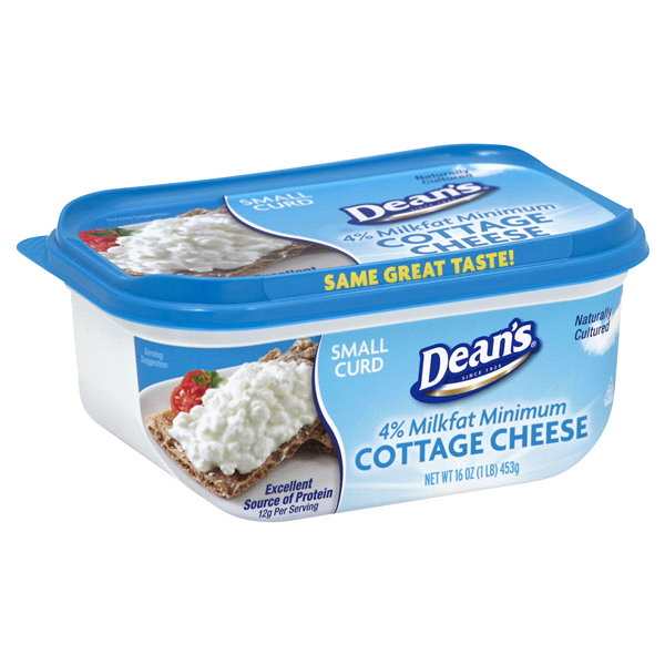 deans cottage cheese small curd 16 oz meijer com