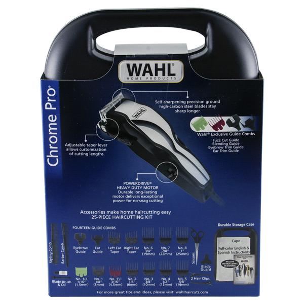 98201f5fc3c3 Wahl Chrome Pro Hair Cutting Kit 25 Piece