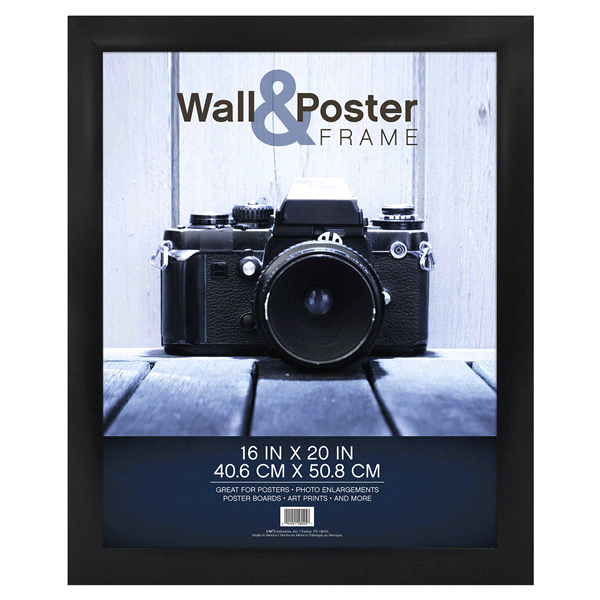 mcs gallery poster frame black 16 x 20 meijer com