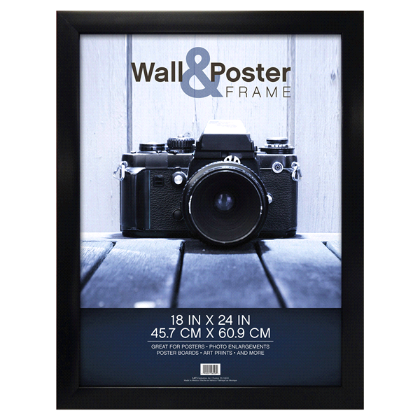 mcs gallery poster frame black 18 x 24