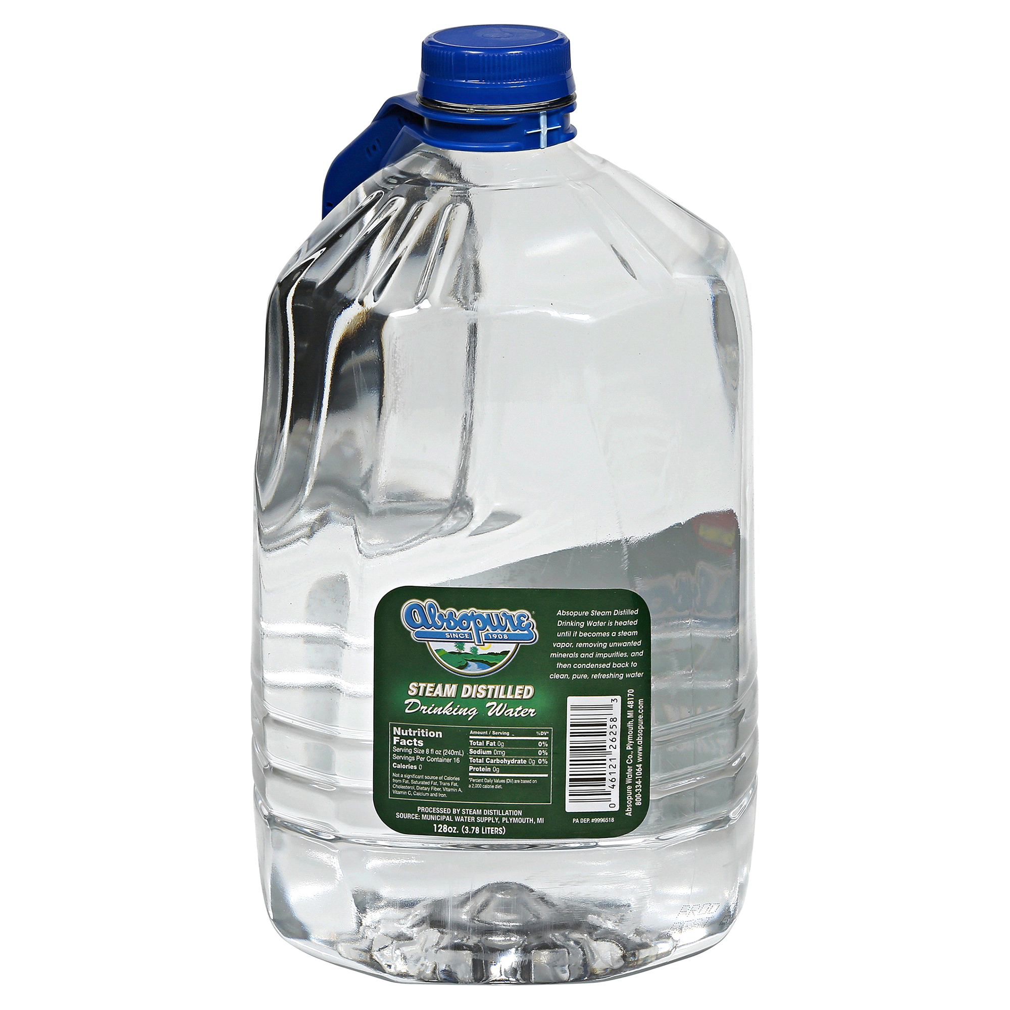 Absopure Distilled Water 128 oz