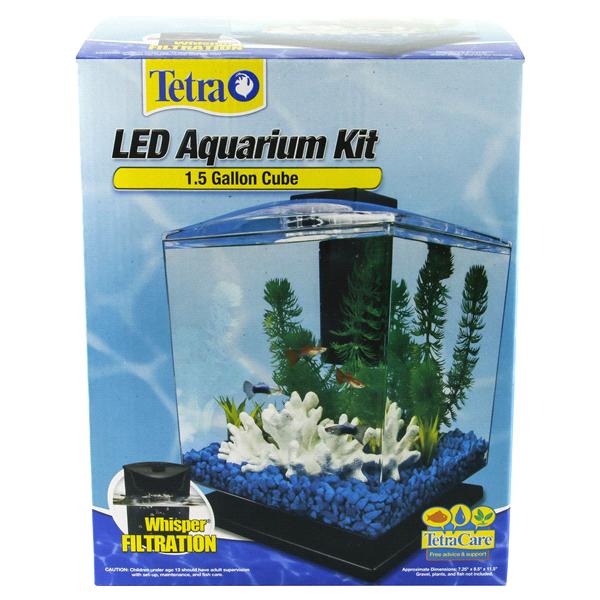 Tetra Led Cube Aquarium Kit 1 5 Gallon