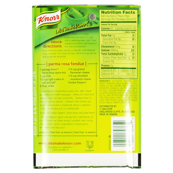 Knorr Parma Rosa Sauce Nutritional Information   Besto Blog
